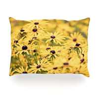 "Debbra Obertanec ""Pantone Yellow"" Flower Daisy Oblong Pillow"