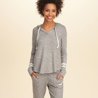 Girls Cozy Textured Fleece Hoodie | Girls Tops | HollisterCo.com