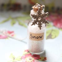 Snowfall Bottle Necklace