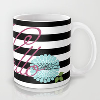 Modern Chic Floral Hello Mug by Doucette Designs