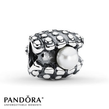 Pandora Clam Charm Cultured Pearl Sterling Silver