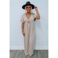 It's Now Or Never Maxi: Beige