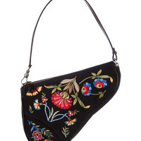 Christian Dior Embroidered Saddle Bag