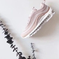 Nike Air Max97 Pink Women Running Sport Casual Shoes Sneakers G