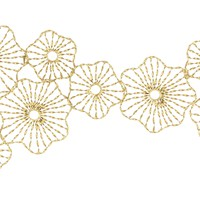 Fluorescent Flower Wall Decor, Gold - 47352 by Benzara