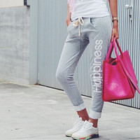 Happiness Comfortable Casual Ankle-length Cotton Exercise Yoga Gym Sweatpants Pants _ 8545