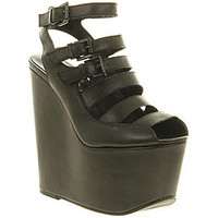 Office OFF THE RAILS BLACK LEATHER Shoes - Womens High Heels Shoes - Office Shoes