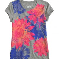 Glitter Flower Graphic Tee