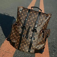 Perfect Louis Vuitton X Supreme Women Leather Bookbag Shoulder Bag Handbag Backpack