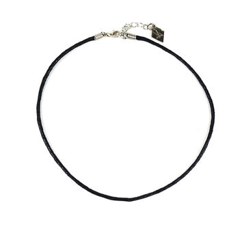 Black Cord Choker Necklace