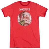 Moon Pie Snacks for Santa Retro Ringer T-Shirt