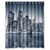 "60"" x 72"" New York City Themed Waterproof Shower Curtains"