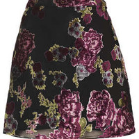 Floral Devore A-Line Skirt - New In This Week  - New In