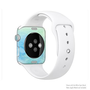 The Subtle Green & Blue Watercolor Full-Body Skin Set for the Apple Watch