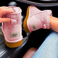 """UGG"" Women Male Fashion Wool Snow Boots  Warm shoes Pink"