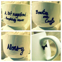 DOCTOR WHO quotes hand painted Mugs
