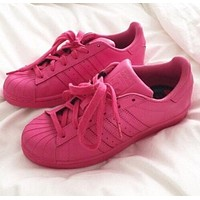 """""""Adidas"""" classic solid color casual shoes F"""