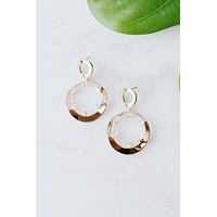 Open Circle Spaced Almond Earring