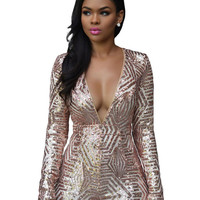 Champagne Sequined Romper