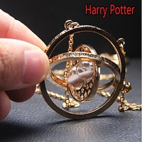 Harry Potter Cosplay Time converter Necklace Toy Harry Potter Magic World Hourglass Necklace Juguete Birthday Brinquedos Gift