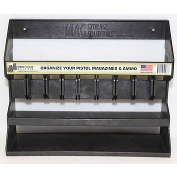 MagStorage Solutions Adjustable Pistol Magazine and Ammo Holder.22cal Through .45cal