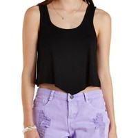 Pointed Hem Cropped Tank Top by Charlotte Russe