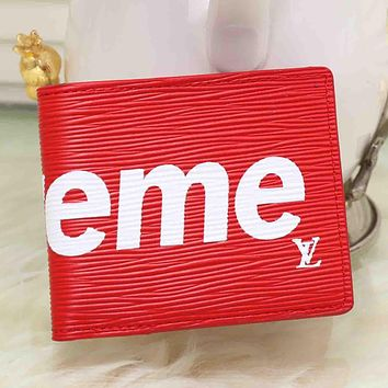 Boys & Men LV x Supreme Purse Wallet