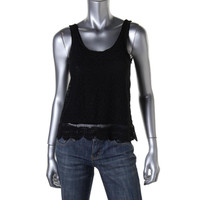 Fire Womens Juniors Lace Front Sleeveless Tank Top