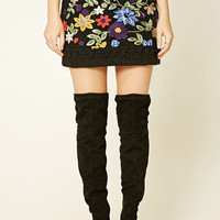 Floral Crochet Mini Skirt