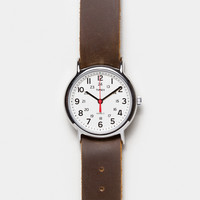 Timex Weekender Watch with Leather Strap