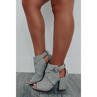 Take Your Pick Booties: Grey