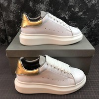 Alexander Mcqueen Oversized White Gold Sneakers - Best Online Sale