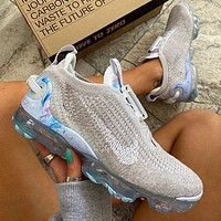 NIKE AIR VAPORMAX 2020 Rainbow environmental protection air cushion net surface running shoes