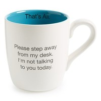 Santa Barbara Design 'That's All - Please Step Away From My Desk' Mug - White