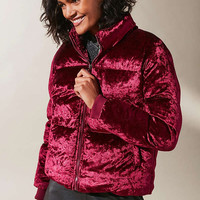 UO Classic Velvet Puffer Jacket | Urban Outfitters