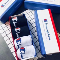 2 Colors Champion Unisex Fashion Casual Sport 100% Cotton Socks