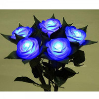 Romantic Valentine's Day Gift Luminous Rose Emulational Rose Lantern Blue (Color: Blue) = 1958318660