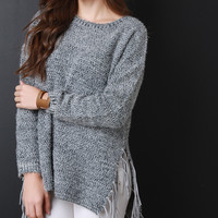 Fringe Side Knitted Sweater