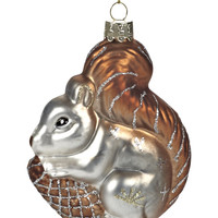 Squirrel with Pinecone Ornament