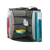 Safco Onyx Mesh Corner Organizer 13 H x 15 W x 11 D Black by Office Depot & OfficeMax