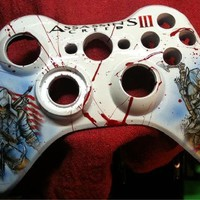 Assassins Creed 3 custom painted Xbox 360 replacement shell kit ( includes buttons)