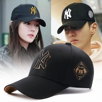 Hat male cap female man cool handsome hat couple sun hat net red sunscreen MLB baseball cap female