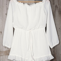 Cupshe Deep Feelings Off the Shoulder Romper