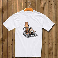 Calvin & Hobbes As Han Solo And Chewbacca shirt for man and woman shirt / tshirt / custom shirt