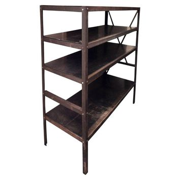 Pre-owned Heavy-Gauge Iron Industrial Shelving Unit