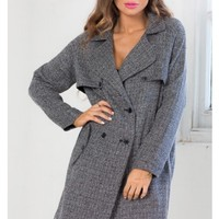 Streets Of New York trench coat in grey