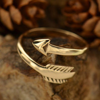 Trust The Path Adjustable Ring- Bronze