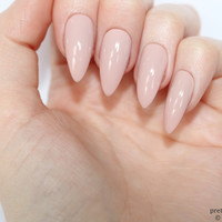 Stiletto nails, Pink nude stiletto nails, Fake nails, Press on nails, False nails, Stiletto false nails, Press on stiletto nails