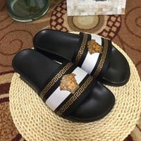 White VERSACE Fashion Slippers