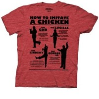 Arrested Development How To Imitate A Chicken Adult Heather Red T-shirt - Arrested Development - Free Shipping on orders over $60 | TV Store Online